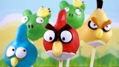 ANGRY BIRDS Cake Pops! Make Angry Birds Cake Pops -- A Cupcake Addiction Tutorial, via YouTube.