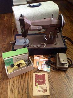 Vintage 1957 Kenmore Sewing Machine w/case/extras by RANDOMONIUMM, $90.00
