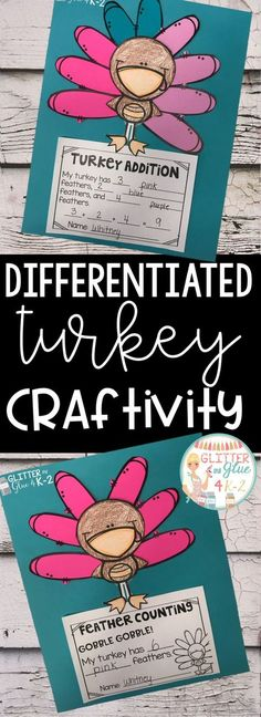 Looking for a fun Thanksgiving or turkey themed activity for your kindergarten or first grade students? Use this fun craftivity to reinforce counting, adding, and color words! I've included three different versions so you can use the option that fits your classroom's needs best or you can differentiate. Keywords: kindergarten, first grade, Thanksgiving theme, Thanksgiving math activity, math craft, math craftivity, turkey craft, Thanksgiving theme project