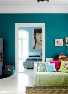 pareti blu petrolio