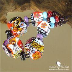 15 handmade lampwork beads SRA glass Calypsos by calypsosbeads, $79.00