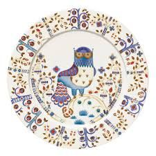 Porcelain plate with a folk art-inspired design. Handcrafted in Finland. Product: PlateConstruction Material: PorcelainColor: White and multiFeatures: Made in FinlandDesigned by Klaus Haapaniemi Dimensions: DiameterNote: Oven and dishwasher safe Blue Dinner Plates, White Plates, Blue Plates, Assiette Design, Enchanted Forest Theme, Salad Plates, All Modern, Joss And Main, Decorative Plates
