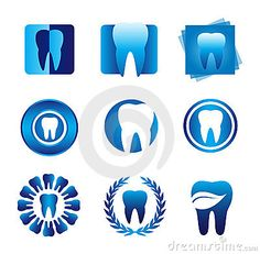Illustration about Several design elements, which can be used for your company logo. Illustration of dentist, shapes, medical - 15692674 Dentist Art, Dentist Logo, Dental Health, Dental Care, Dental Clinic Logo, Dental Posters, Clinic Interior Design, Dental Technician, Dental Office Design