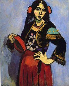 Spanish woman with tamborine, 1909- Henri Matisse- WikiArt.org