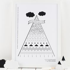 Your Mountain Is Waiting Monochrome Print – Hippo & Co.