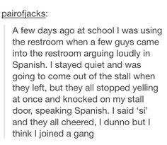 Stupid Funny Memes, Funny Laugh, Funny Relatable Memes, Funny Posts, Funny Stuff, Random Stuff, Funny Quotes, Hilarious, Funny Tumblr Stories