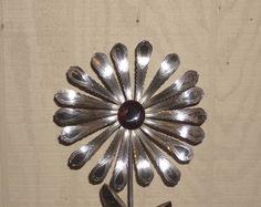 Silverware Garden Art | Garden Art Flatware Sculpture Spoon Handle ...