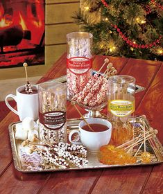 Flavored hot beverage stirrers. It's up to your host whether these get served alongside post-dinner coffee, or saved for a cozy treat another day. Available here ($6.95).