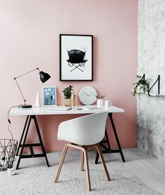 Blush and marble. Sublime combination of Rebel Walls wallpaper and Haymes Paint. Created for Norsu Interiors by Jacqui Moore and Julia Green of Greenhouse Interiors. Photo by Lisa Cohen.: