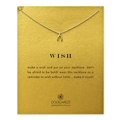 wish wishbone necklace, gold dipped