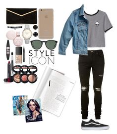 """""""."""" by rubymeredith ❤ liked on Polyvore featuring WithChic, AMIRI, Vans, Lucky Brand, Agent 18, Fallon, Melissa Joy Manning, Polo Ralph Lauren, Maybelline and NARS Cosmetics"""