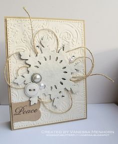 wings of a butterfly: My Other Winter Crafts and Another Card