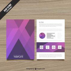 Abstract brochure in purple tones Free Vector