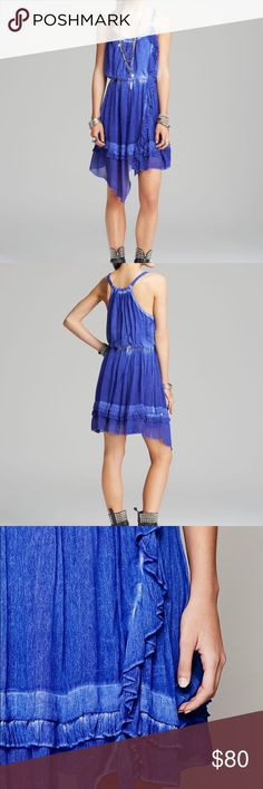 Free People Aphrodite Blue Dress Sleeveless chiffon mini dress with cinched elastic waist and elegant ruffle detail. Tiered rounded hem. Fully lined.  **Special Note: This dress contains a washed out effect.   *100% Viscose *Hand Wash Cold *     ❌I do NOT trade ❌ 🛍10% off 2+ item bundles 📸Instagram @Yami.Boutique (Secret Pop Up Discount codes!) Free People Dresses Mini