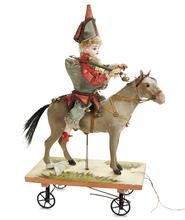 mounted soldier pull toy