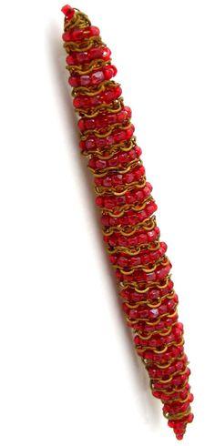 Hattie Carnegie - Broche 'Barrette' - Perles de Rocaille - Années 60