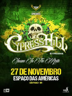 Don't miss Cypress Hill in SAO PAULO, BRAZIL on 11/27! Only 15 days away, get your tickets NOW!  #cypresshill #hiphop #music #brazil #saopaulo #breal #brealtv