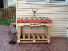 Summer 2014....serving table made from pallets