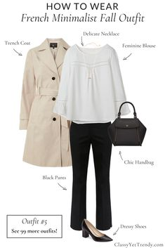 The french minimalist capsule wardrobe: fall 2018 collection! a complete capsule wardrobe guide, with all the clothes and Classy Fall Outfits, Fall Outfits 2018, Chic Outfits, Work Outfits, Summer Outfits, Formal Outfits, Simple Outfits, Winter Outfits, French Minimalist Wardrobe