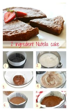 2 ingredient Nutella cake