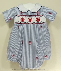 Cross Eyed Cricket Smocking Designs This would be perfect for the beach or the 4th of July.