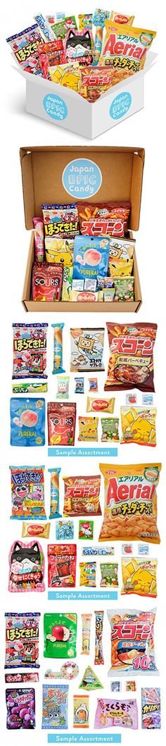 """Japanese Candy Assortment - Premium Selection of Candy and Snacks Imported from Japan - DIY, Gummy, Sours, Sweets, Crackers - """"Japan Epic Candy"""" (Original)"""