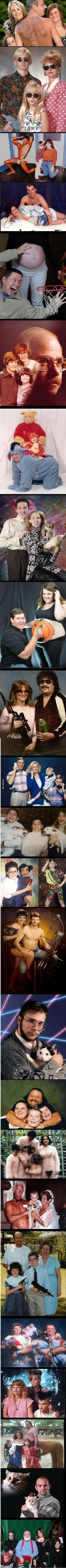 Just some awkward family photos/ these are so weird.