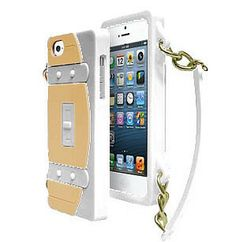 Fashionable White Purse Cover with Chain for iPhone 5, 5S (FREE SHIPPING!)