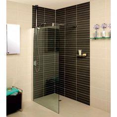 Roman - Embrace Clear Glass Corner Wetroom Panel - Various Size Options Wet Room Shower, Bathroom Design Layout, Bathroom Installation, Bathroom Showrooms, Barn Renovation, Complete Bathrooms, Shower Panels, Wet Rooms, Shower Enclosure