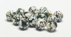Round Magnesite Stone and Resin Beads in Khaki Green 10 MM by BeadsFromHaven on Etsy