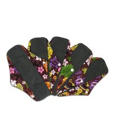 Another great find on #zulily! Hawaii Cloth Reusable Sanitary Pad - Set of Five #zulilyfinds
