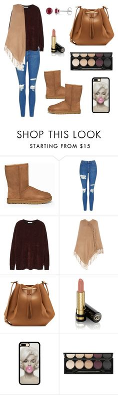 """Untitled #615"" by mariafilomena471 ❤ liked on Polyvore featuring UGG, Topshop, MANGO, BCBGMAXAZRIA, Maison Margiela, Gucci, Witchery and Allurez"