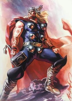 Thor by Felipe Massafera - Visit to grab an amazing super hero shirt now on sale! Marvel Comic Character, Comic Book Characters, Marvel Characters, Comic Books Art, Comic Art, Book Art, Marvel Comic Universe, Marvel Comics Art, Comics Universe