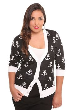 Torrid ACTION ITEM: needs pill removal, assessment Cool Outfits, Fashion Outfits, Womens Fashion, Cruise Outfits, Kinds Of Clothes, V Neck Cardigan, Nautical Fashion, Retro Chic, My Wardrobe