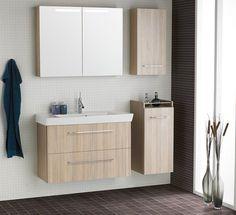Möbelpakete Mido mit Porzellanwaschtisch mit einer geringen Tiefe für kleine und schmale Badezimmer. Dansani Mido zeichnet sich durch ein ansprechendes und zeitloses Design aus. http://www.dansani.de/de-de/badmoebel/dansani-mido