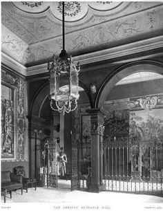Entrance Hall, Easton Neston, 1908