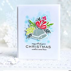 I am thrilled to be guesting on the WPlus9 blog today with three different Christmas cards! #wplus9 #cards #cardmaking #dies #diecutting #stamps #stamping #christmas #christmascards #myjoyfulmoments #silverbells