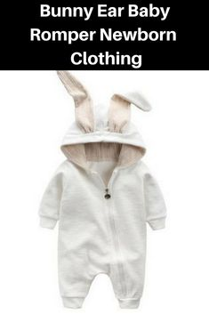 74abe6cf72df Bunny Ear Baby Romper Cute Rabbit Ear Hooded Boys Girls Clothes Newborn  Clothing Jumpsuit Infant Outfit