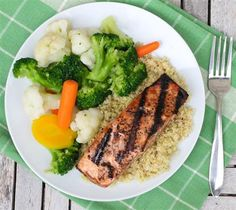 Maple Glazed Grilled Salmon - The Kitchen Table - The Eat-Clean Diet®