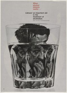 Rolf Harder, When Alcohol Distorts Reality... (Advertisement for Librium), 1963