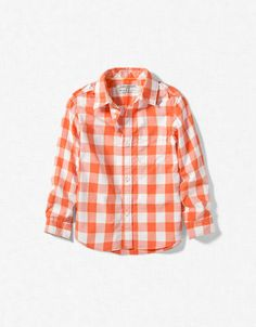 boys' gingham checked shirt