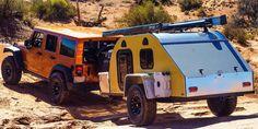 Best off road camping trailer ideas 46 Ideas Off Road Teardrop Trailer, Teardrop Camping, Off Road Trailer, Used Camping Trailers, Diy Camper Trailer, Trailer Build, Truck Camper, Off Road Camping, Camping Gear
