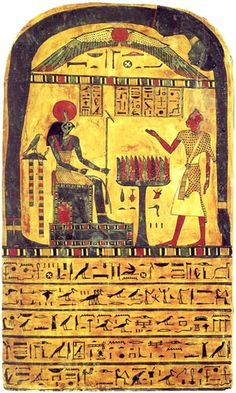 defixiones:    TheStele of Ankh-ef-en-Khonsu Iis a painted, wooden offeringstele, discovered in 1858 at themortuary templeofHatshepsut...