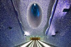 University of Naples Metro Station designed by Karim Rashid