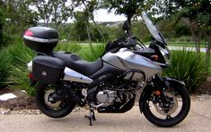 Suzuki DL650 V-Strom - OUR BIKE! minus the storage on the back and the saddle bags..