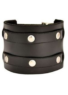 Two Row Rivet Wristband - punk, gothic, leather wristbands