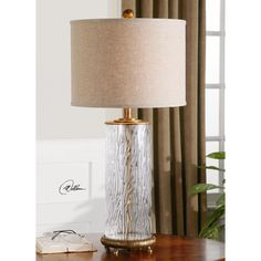 "Uttermost Tomi 31"" H Table Lamp with Drum Shade--$262  Wayfair.com"