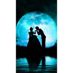 Cinderella and Prince Charming love this, wish the moon was actually... ❤ liked on Polyvore featuring cinderella and prince charming
