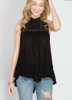 This top is perfect!!! Flowy bodice with hi low Hem and lace paneled high mock neck  Just shipped to us today. Pair this with your favorite jeans or perfect with out frayed culottes! Sizes small-large available and runs TTS. $35/ships free to US. •    •    COMMENT or DM with size and email SPELLED out for secure PayPal invoice. •    •    •    •    •    •    #fashion #fashiontrend #fashiondaily #fashionlovers #fashioninspo #fashionista #fashiontrends #fashiondiaries #fashionstyle…