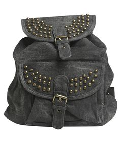 Studded Canvas Backpack from Wet Seal